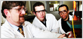 Queen's Engineering students in the lab